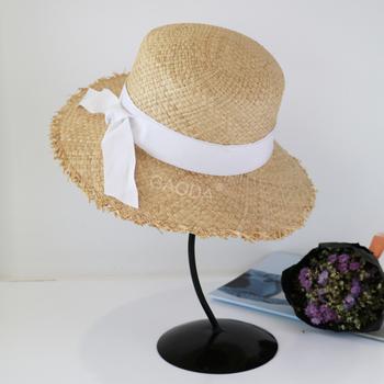 White Ribbon Raffia Farmer Hats Straw Sun Hats - Buy Straw Sun ... 9056896dad8