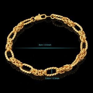 0f22848480966 new gold JH jewellery golden chains wholesale 18k gold plated jewelry  bracelet