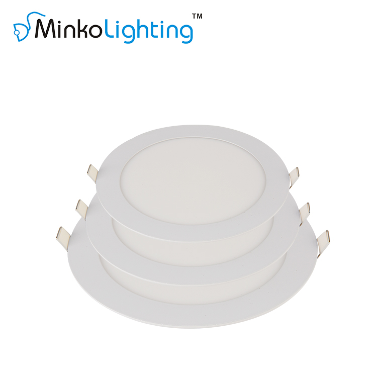 Super Bright Smd 2835 Slim Ceiling Downlight Fixture Recessed Ultra Thin Led Panel Light 18W