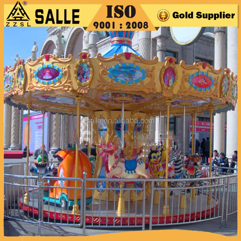 Factory Outdoor Amusement Equipment/Park Projects Merrry Go Round Rides Carousel Kids Horse Games