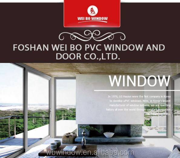 Decorative Interior PVC White Color Casement Window Grills Design For House