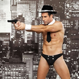 Wholesale Men Sexy Lingerie Uniform Police Role-play Costume Fancy Dress