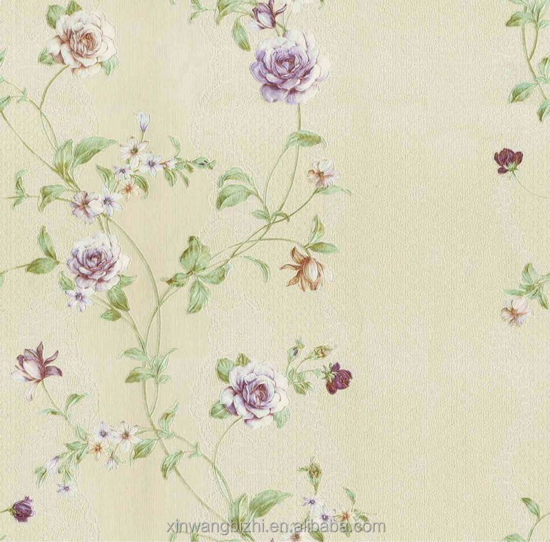 China manufacturer high quality commercial vinyl wallpaper for living room decoration