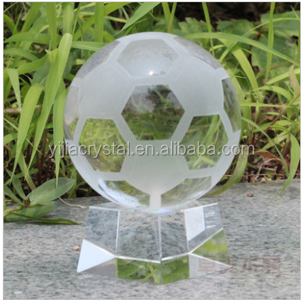 60mm High Quality Crystal Glass Football Wholesale