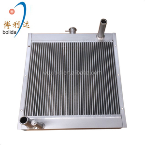 customized high cooling efficiency aluminum plate fin oil radiator