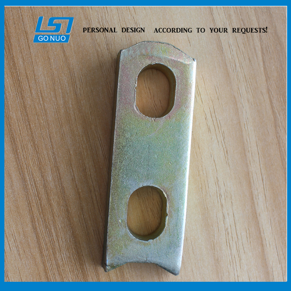 Customized Yellow zinc plated metal sheet pressing parts made of cold rolled sheet