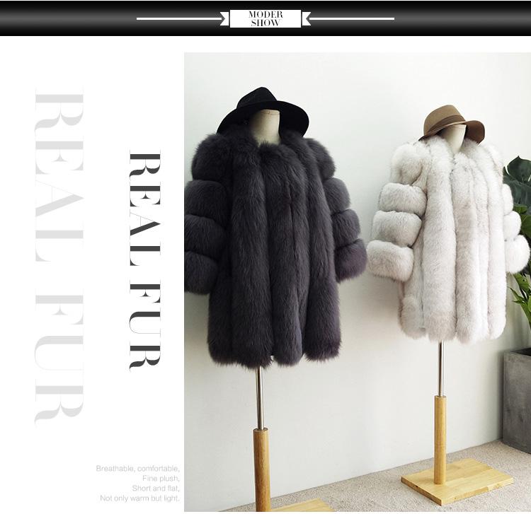 5022829351 2018 HOT High Quality Women Fashion Elegant Real Fox Fur Coat, View ...