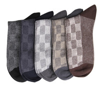 Soft Breathable Mens Embroidery Dress Socks With Custom Logo