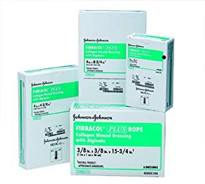 Johnson & Johnson FIBRACOL PLUS Collagen Wound Dressing with Alginate - Sku JNJ2981, 1/Each