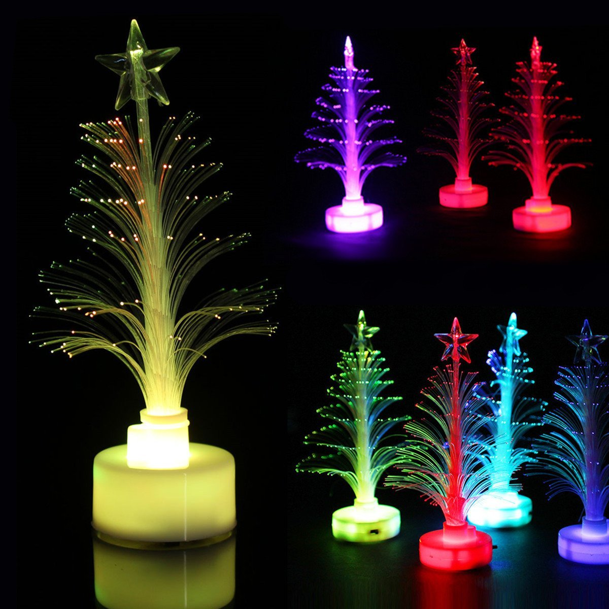 Pink Lizard Multicolor LED Christmas Tree Crystal Christmas Tree Party Decoration