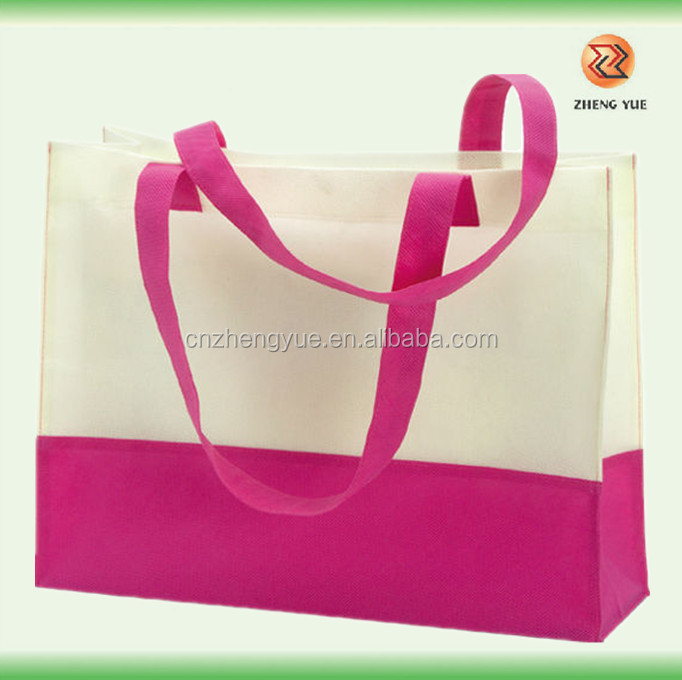 wholesale high quality plain reusable grocery bags