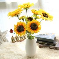 Hot sale home decorative artificial flower sunflowers