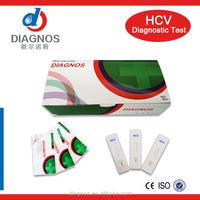 One step DIAGNOS Rapid HCV hepatitis C virus test with low price