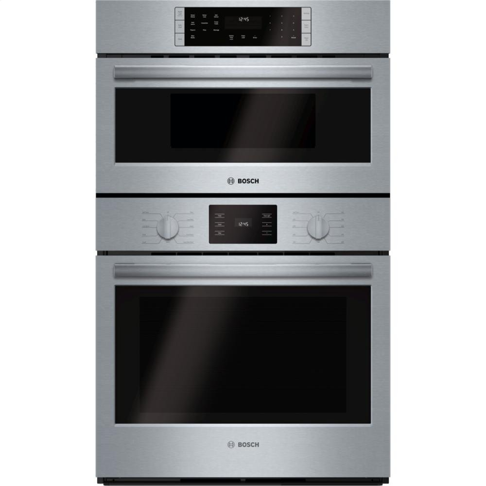 """Bosch HBL5751UC 500 30"""" Stainless Steel Electric Combination Wall Oven - Convection - Speed Oven"""