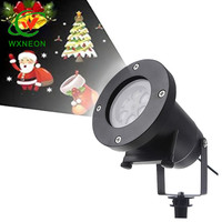DJ Disco Party Music Snow Projection Laser Light for Outdoor Night Lighting Decoration
