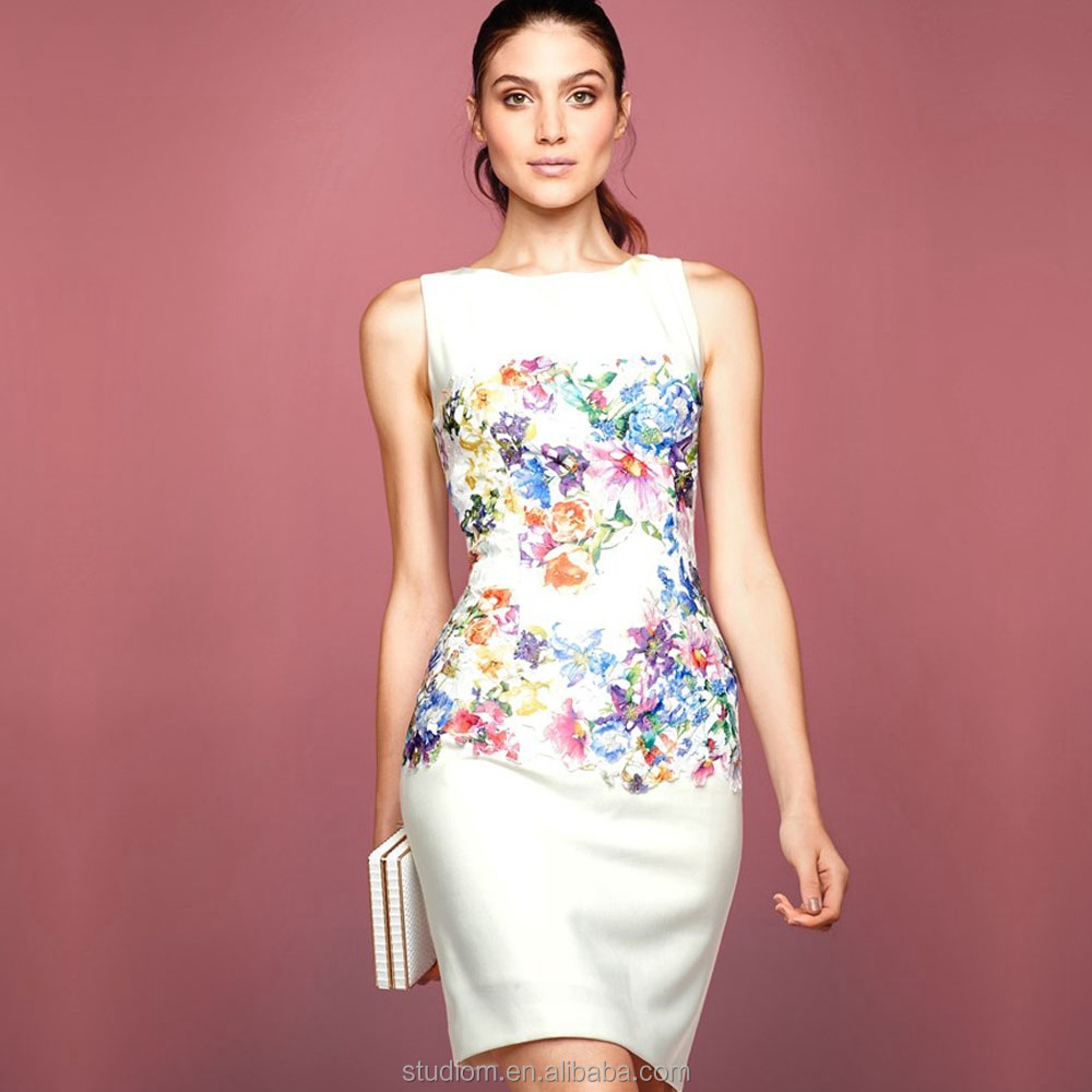 Venta al por mayor vestidos blancos de coctel-Compre online los ...