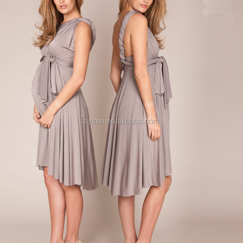 b5aadb7f66ffe hot sale wholesale clothes for pregnant women dove grey multiway pregnant  women clothes
