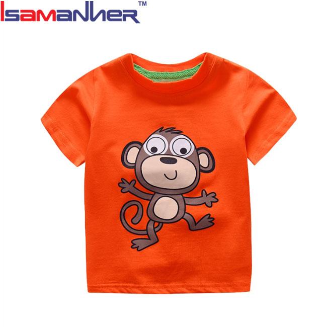 100% t shirt di cotone di stampa del fumetto per bambini t shirt commercio all'ingrosso
