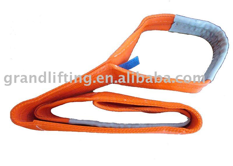 5T polyester flat webbing sling red color (lifting sling)