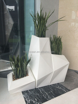 FO 325 Large Decorative FIberglass Design Set Planter