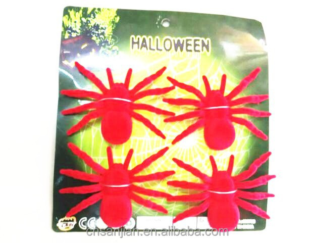 Red spider treat or trick play emulation insect toy