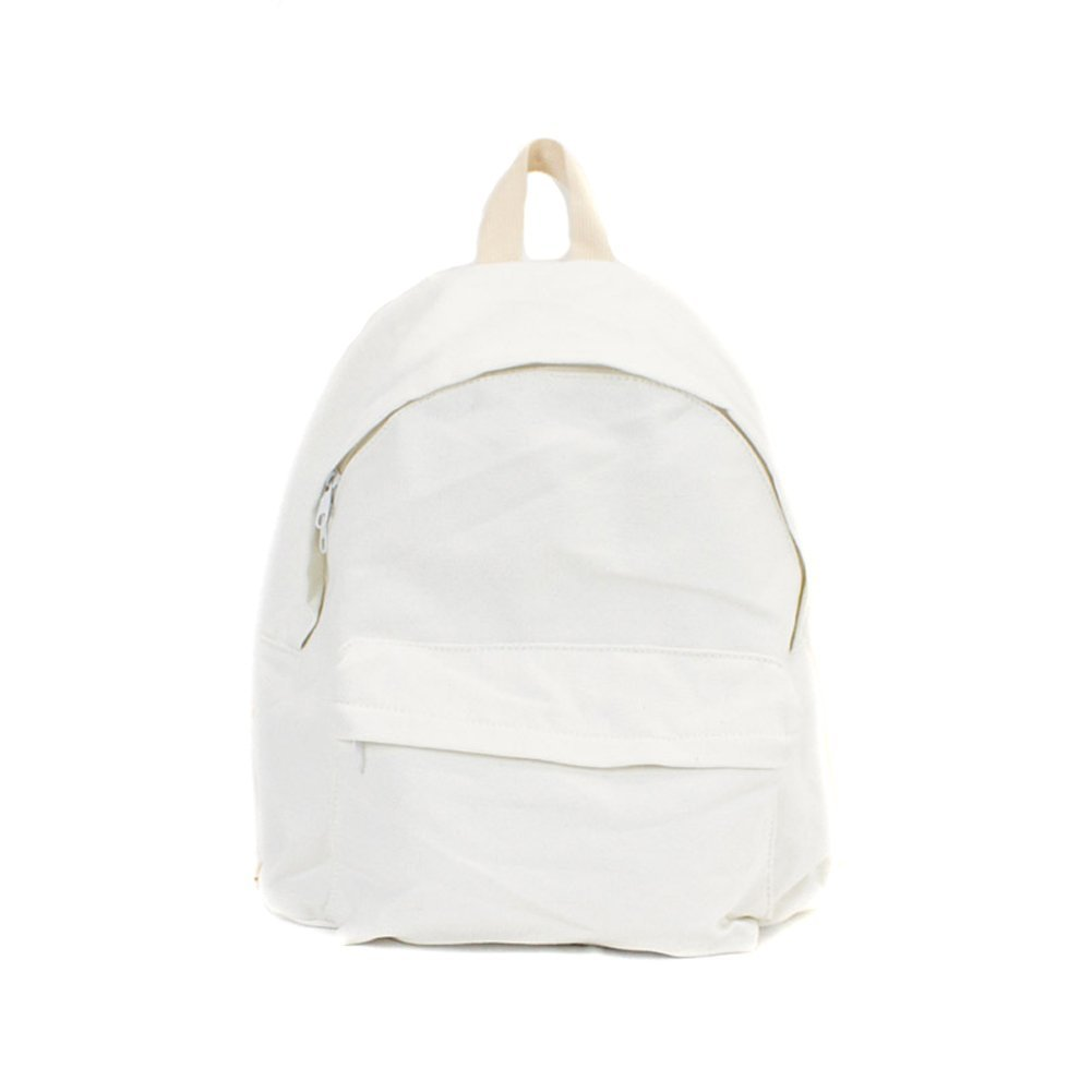 868a395e75 Get Quotations · Shoulder Bags Backpack College Bags Casual Canvas Daypack  For School Rucksack Book Bags White.
