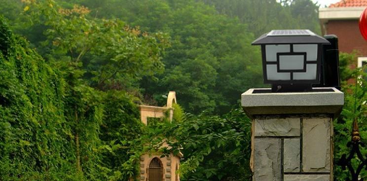 4w Solar Pillar Lamp Led Solar Garden Light Outdoor Garden ...