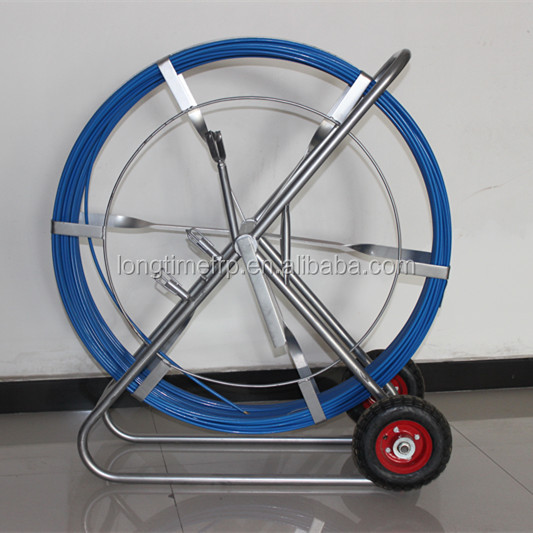 FRP cable pushing tool, FRP PIPE dredge snake rod, Fiberglass cable laying equipment