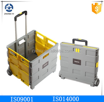 Plastic Trolley Cart Folding Trolley Cart