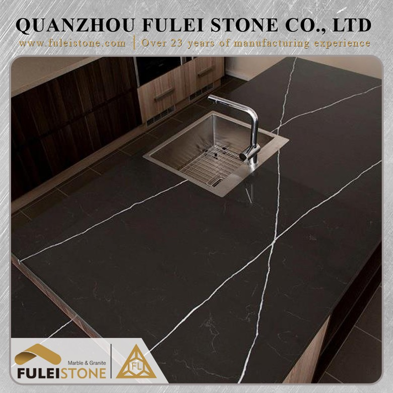Best quality pietra grey marble precut kitchen countertop