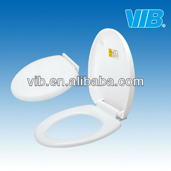 Soft close toilet seat hinges for plastic water closet for elegant toilets