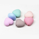 fancy colorful perforated rubber matte finished heart plastic bead for earring