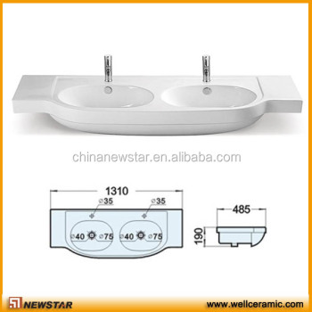 Bathroom Sinks Double Basin commercial porcelain sink,double bowl bathroom sink - buy