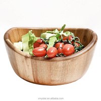 pristine and antique acacia wood salad mixing bowl extra large for salad serving factory BSCI