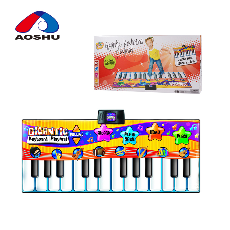 Non-toxic mult-function electronic musical keyboard baby play mat with cheap price