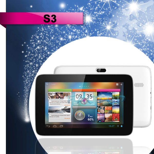 7 inch android tablet pc IPS 1024*600P PIPO S3 dual core