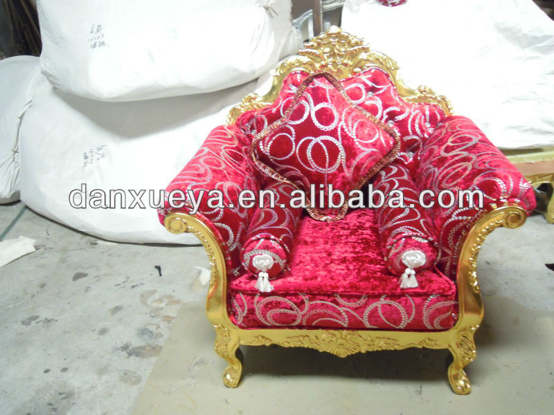 Danxueya Factory Direct Sale Golden Red Color Luxury Wedding Sofa ...