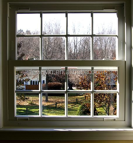 Aluminum timber double hung windows window buy aluminum for Window treatments for double hung windows