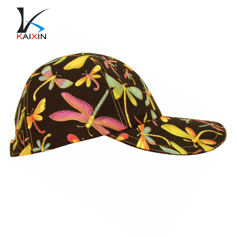 Wholesale heat transfer printing logo custom design baseball caps