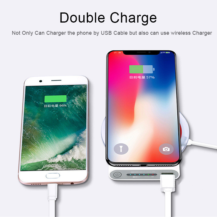 Qi Wireless Charger Power Bank 10000mAh for for iPhone X XS XR 8 7 6 for Samsung Xiaomi