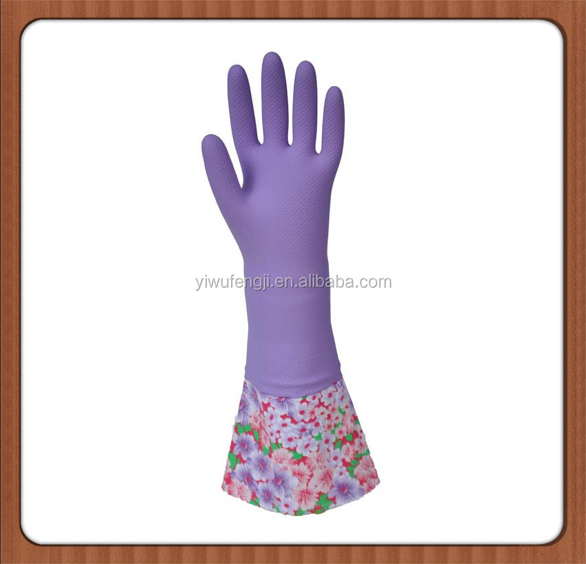 Long Cuff Cleaning household latex gloves