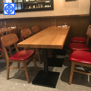 Customized Chinese Wood Modern Restaurant Furniture Table And Chair Set