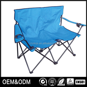 New Arrival Canvas Heavy Lazy Boy Two Person Camping Chair With Armrest