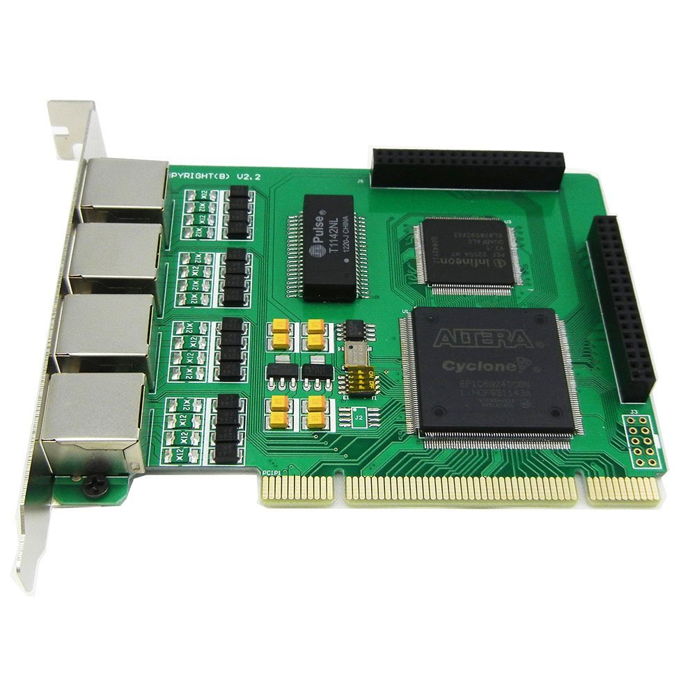 Quad Spans Selectable E1 or T1 Pci Card Suitable for Asterisk Based Applications