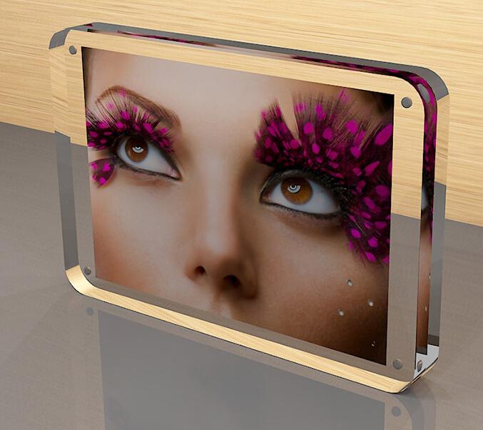 factory wholesale acrylic magnetic photo frame
