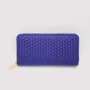 Fashion lady leather clutch wallet the gorgeous sapphire blue mighty wallet