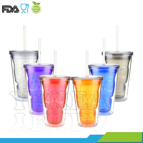 New Arrival 16oz Double Wall Acrylic Tumbler With