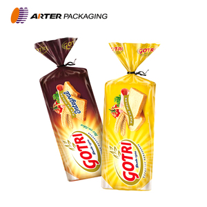 custom printed plastic packaging bread bag