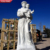 Life Size Marble Outdoor Religion Statue Saint Joseph and Baby Jesus Statue for Sale