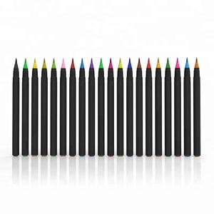 20 colors art marker watercolor brush pen with soft flexible tip for coloring